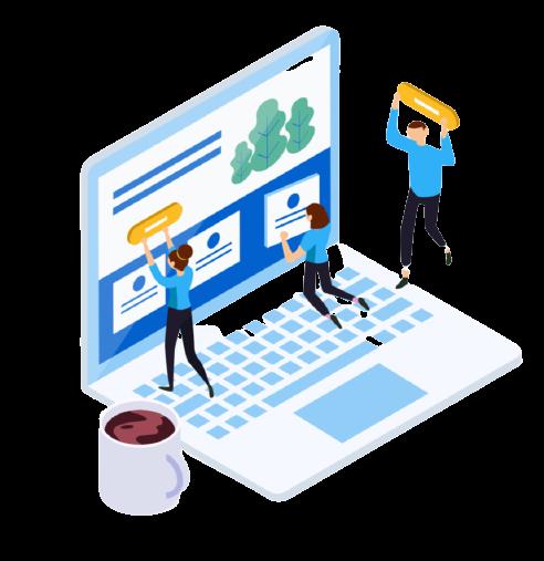 Wordpress website maintenance service in progress